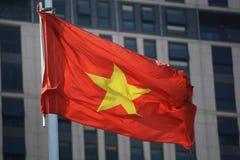 Vietnam flagga Arkivbilder