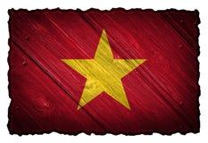 Vietnam flagga Arkivfoto