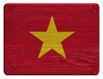 Vietnam flagga Royaltyfria Bilder