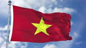 Vietnam flagga i en blå himmel Royaltyfri Foto