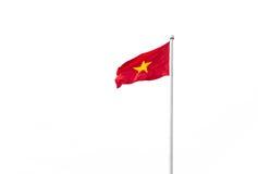 Vietnam flagga som isoleras på vit bakgrund Royaltyfria Bilder