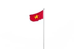 Vietnam flagga som isoleras på vit bakgrund Arkivbilder