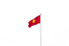 Vietnam flagga som isoleras på vit bakgrund Arkivfoton