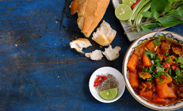 Vietnam food, bread with stewed beef Royalty Free Stock Image