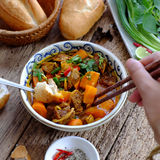 Vietnam food, bread with stewed beef Royalty Free Stock Photography
