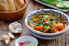 Vietnam food, bread with stewed beef Stock Images