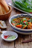 Vietnam food, bread with stewed beef Stock Image