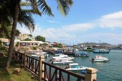 Vietnam gömma i handflatan den härliga Gulf Coast för havet Arkivfoto