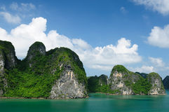 Vietnam - Halong Bay. National Park (UNESCO). The most popular place in Vietnam stock photography