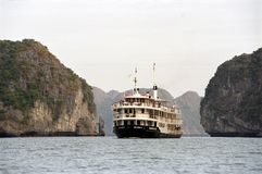 Vietnam: Halong Bay`s beautifull stone formations stock image