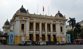 Vietnam - Hanoi - den franska fjärdedelen - operahuset Royaltyfri Foto