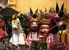 Vietnam, Hanoi: Templo de THANH HA Fotografia de Stock