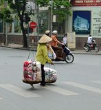 Vietnam - Hanoi - typical street scene from the French Quarter Royalty Free Stock Image