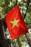 Vietnam Hanoi Vietnamese flag in street Royalty Free Stock Photo