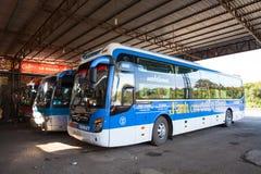 Vietnam highway bus car Stock Photos