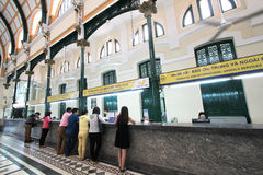 Vietnam Ho Chi Minh City Central stolpe - kontor Arkivfoton