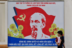 Vietnam - Ho Chi Minh poster. Poster of Ho Chi Minh , Vietnamese leader Royalty Free Stock Photography