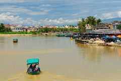 Vietnam - Hoi An. Hoi An city - highlight of any trip to Vietnam. Hio An old town is a UNESCO site.  Vietnam Royalty Free Stock Photo