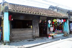 Vietnam - Hoi An- typical wooden merchant shop houses Royalty Free Stock Photography