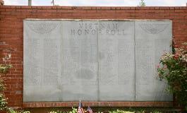 Vietnam Honor Roll, Millington, TN Royalty Free Stock Image