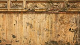 Vietnam, Hue: old wall of the citadel Royalty Free Stock Photos