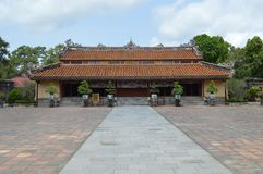 Vietnam - Hue - Sung an Temple at The Royal Mausoleums - Minh Mang. Vietnam - Hue - The Royal Mausoleums - Minh Mang -near An Bang village, imperial tomb of Royalty Free Stock Image