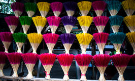 Vietnam Joss Sticks. Colorful Joss Sticks in Vietnam royalty free stock images