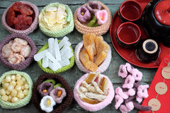Vietnam-Kultur, vietnamesisches Lebensmittel, Tet, neues Mondjahr Lizenzfreie Stockfotografie