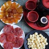 Vietnam kultur, vietnamesisk mat, Tet, mån- nytt år fotografering för bildbyråer