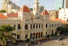Vietnam: La ópera de Ho Chi Ming City del tejado de Rex Hotel legendario fotografía de archivo libre de regalías