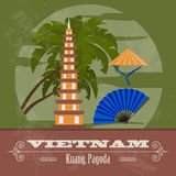 Vietnam landmarks. Retro styled image Royalty Free Stock Photos