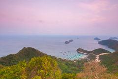 Vietnam Landscape : Aerial sunrise view of Nam Du Islands, Kien Giang. Stock Photos