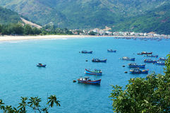 Vietnam landscape, beach, mountain, ecology, travel Royalty Free Stock Image