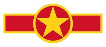 Vietnam landsroundel royaltyfria foton