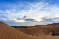 Vietnam lanscape: Sand dunes in Mui ne, Phan thiet, Viet Nam Royalty Free Stock Photography