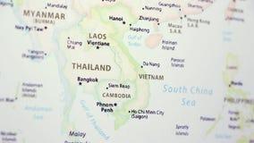 Vietnam Laos på en översikt stock video