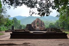 Vietnam - My Son - Temple ruins in the early morning Royalty Free Stock Images