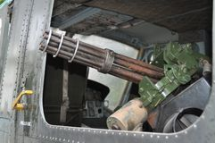 Vietnam - Machine gun of an American helicopter during the Vietnam war Royalty Free Stock Photo
