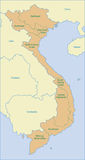 Vietnam map. Map of Vietnam area name Stock Images