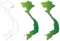 Vietnam Map Set Illustration on White Background Royalty Free Stock Images