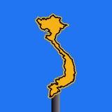 Vietnam map warning sign Royalty Free Stock Photography