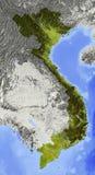 Vietnam, mapa de relevo Ilustração do Vetor