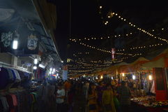 Hanoi night market. Many people are at a night market in Vietnam and looking for hot deals royalty free stock photos
