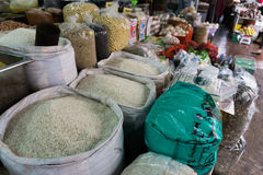Vietnam Market. A variety of food products they sell Stock Photo
