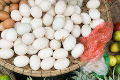 Vietnam Market. A variety of food products they sell Royalty Free Stock Photos