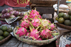 Vietnam Market. A variety of food products they sell Royalty Free Stock Images