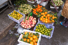 Vietnam Market. A variety of food products they sell Royalty Free Stock Photo