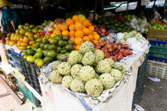 Vietnam Market. A variety of food products they sell Stock Photography