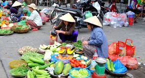 Vietnam marknad Hoi An Arkivfoto