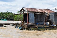 Fisherman House on the River royalty free stock photo